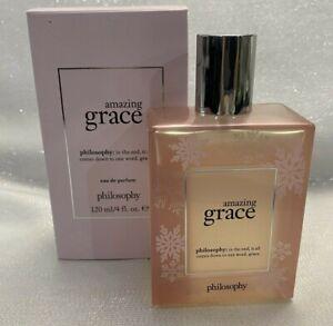 Philosophy-Amazing-Grace-Eau-de-Parfum-Perfume-4oz-Spray-EDP-Copo-de-Nieve-80-Lleno