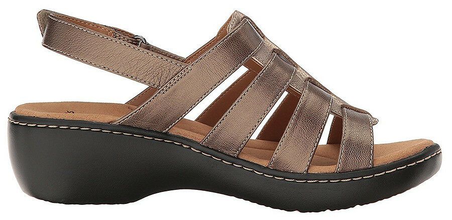 New New New Clarks Collection DELANA MALOREN Women Leather Sandals Size 10 64d51a