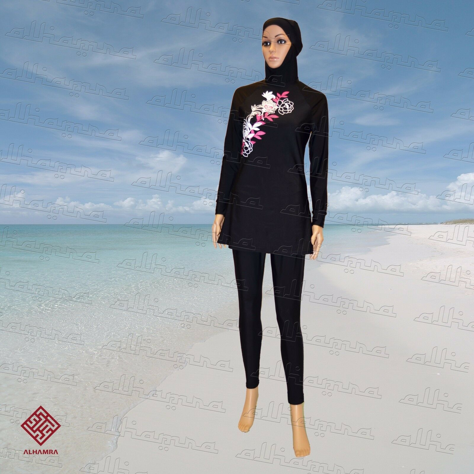 Al-Hamra Aloha NEW Modest Full Cover Muslim Islamic Swimsuit Swimwear burkini