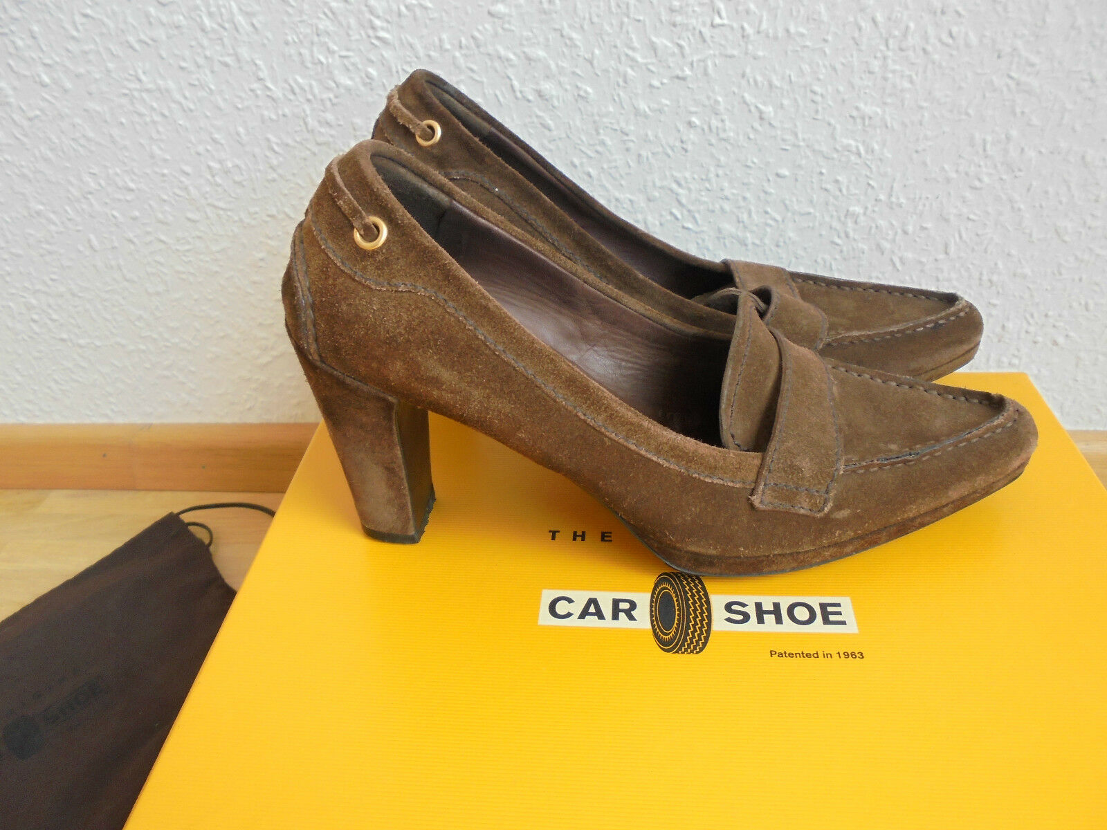 Feine Car Schuhe by Prada Wildleder Pumps NP:  TOP High Heels Schuhe Gr. 36