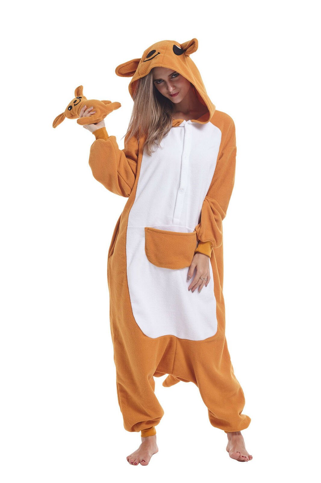 Women Adult Animal Cosplay Costumes Kangaroo Kigurumi Pajama