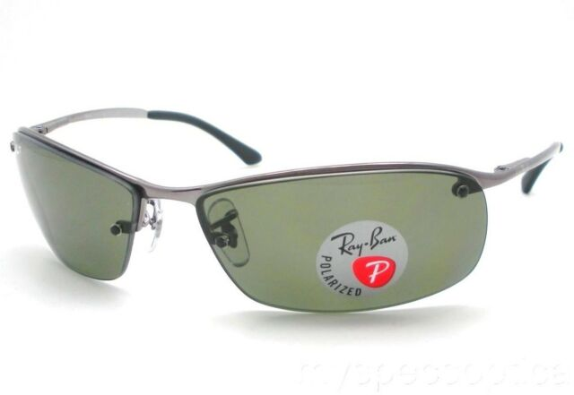 5d46223343 Ray Ban 3183 004 9A Gunmetal Polarized Green Sunglasses New Authentic