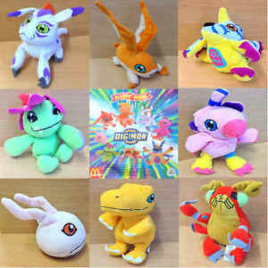 McDonalds-Happy-Meal-Toy-2001-Digital-Digimon-Monster-Plush-Toys-Various