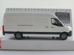 Busch-52600-Mercedes-Benz-Sprinter-recuadro-carro-2018-en-blanco-1-87-h0-nuevo-en-el-embalaje