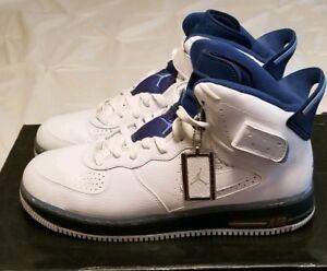 435a96f79558 Nike air Jordan Fusion Ajf 6 White University blue Size12 (343064 ...