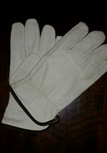 NEW pair of L Cowhide WORK GLOVES Leather soft LARGE