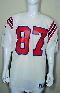 dfac6fa2f72 Team Game Issued NFL New England Patriots Vintage 80's 90's Jersey ...