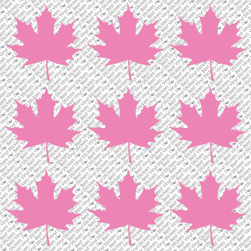MAPLE LEAF PICK COLOR ML-01 SIZE VINYL CAR GLASS WINDOW WALL DECAL STICKER