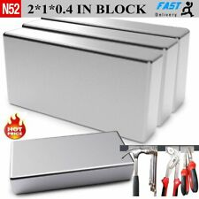Max Magnets Super Strong N52 Neodymium Large Block Magnet 2x1x039 Rare Earth