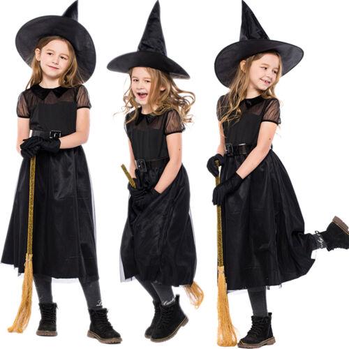 Vampir Prinzessin Kostüm Kinder Vampirkleid Mädchen Halloween Hexe Witch Kleider