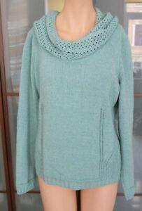 Bonita UVP 29,99€ Damen T-Shirt Pullover Oberteil ¾-Arm blau grün türkis