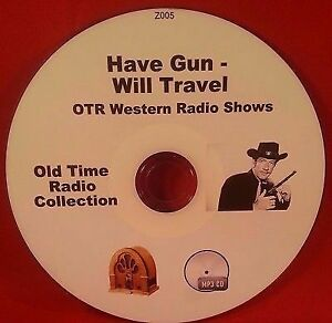 Have-Gun-Will-Travel-OTR-MP3-CD-110-Old-Time-Western-Radio-Shows-Audio