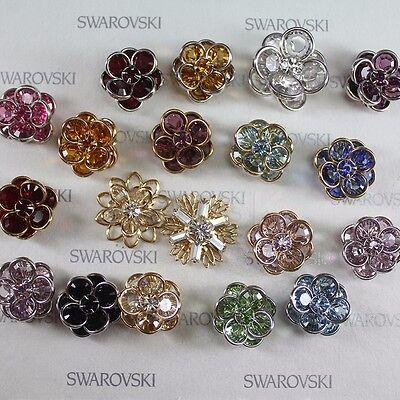 Swarovski Crystal Rare Vintage Flower Filigree Findings Variable Sizes Colors