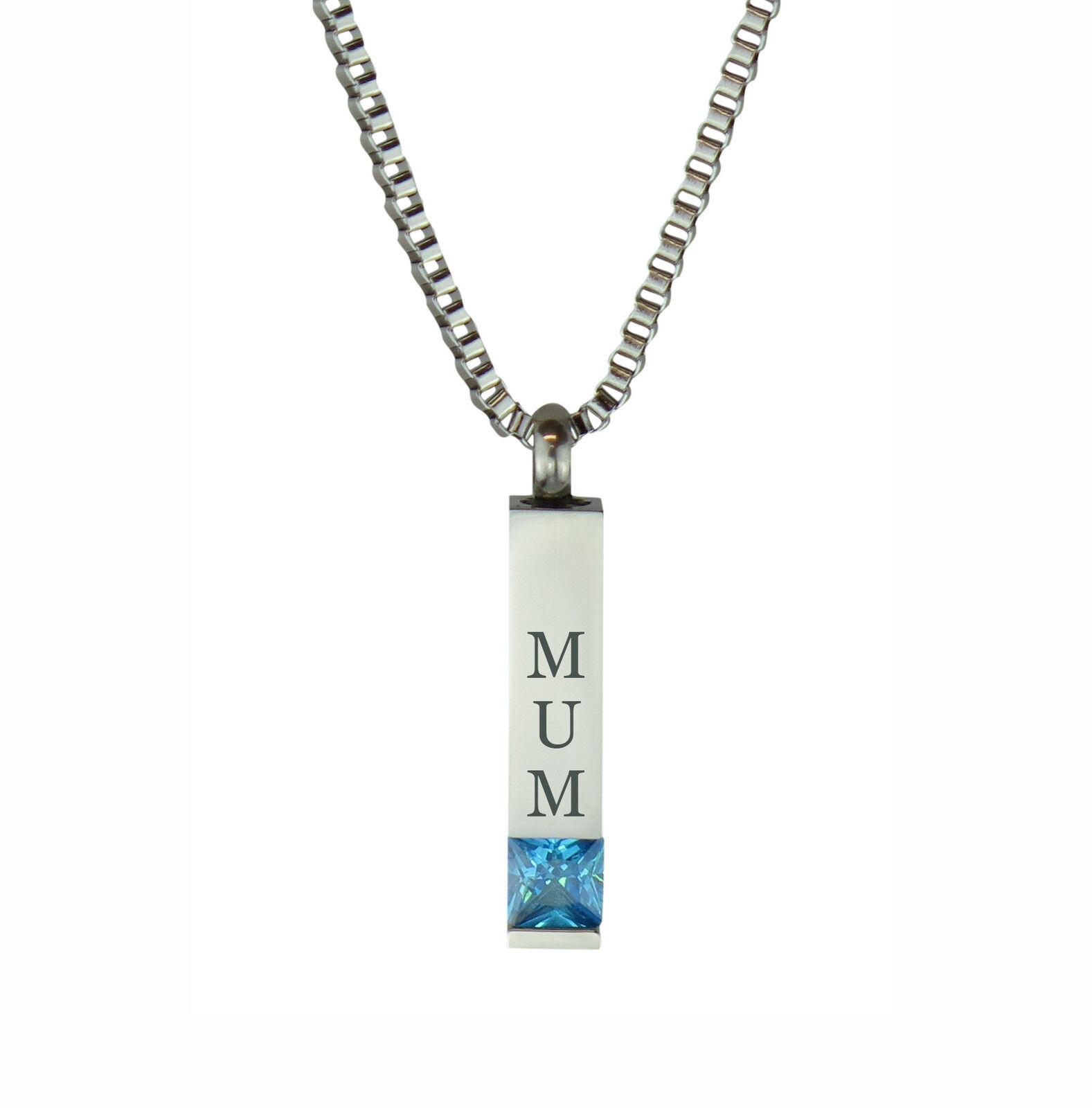 Colgante Colgante Colgante De Cristal Azul Mamá Quantum Joyería para ceniza Urna Ceniza Memorial-Grabado 7a9782