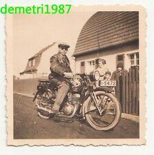 Foto Mann mit Motorrad Oltimer um 1935 ! (F945