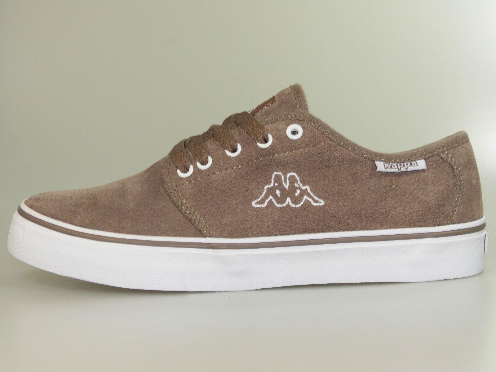 Kappa Schuhe Jumbo Low 241537/5210 Braun Weiß Leder +Neu+ verschiedene Größen