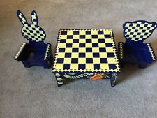 Muffy Vanderbear Chess Game Table and 2 Chairs