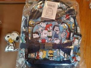 Pottery Barn Set Peanuts Snoopy Backpack Ice Pack