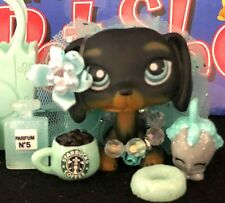 3Lot Hasbro LittlestPetShoP LPS Dachshund Black Dog #325 Great Dane #1647 1688