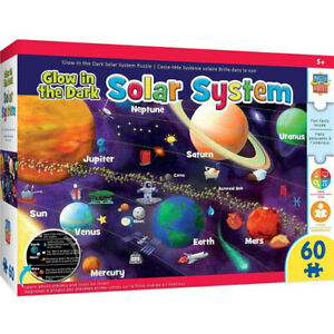 Masterpieces Solar System Glow in the Dark Educational Fun Facts 60pc Puzzle