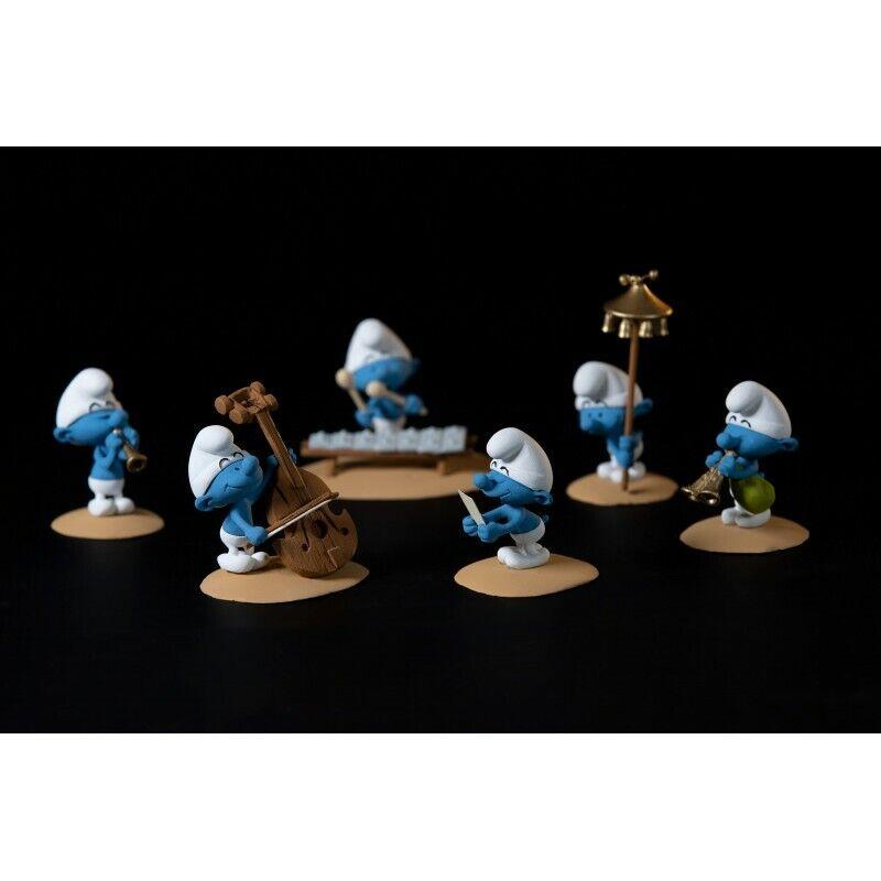 Figurine L'orchestre des Schtroumpf Coffret 2 PEYO FARIBOLES