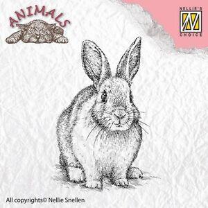 Motivstempel-Clearstamp-Stempel-Rabbit-Haeschen-Hase-Ostern-Nellie-Snellen-ANI012