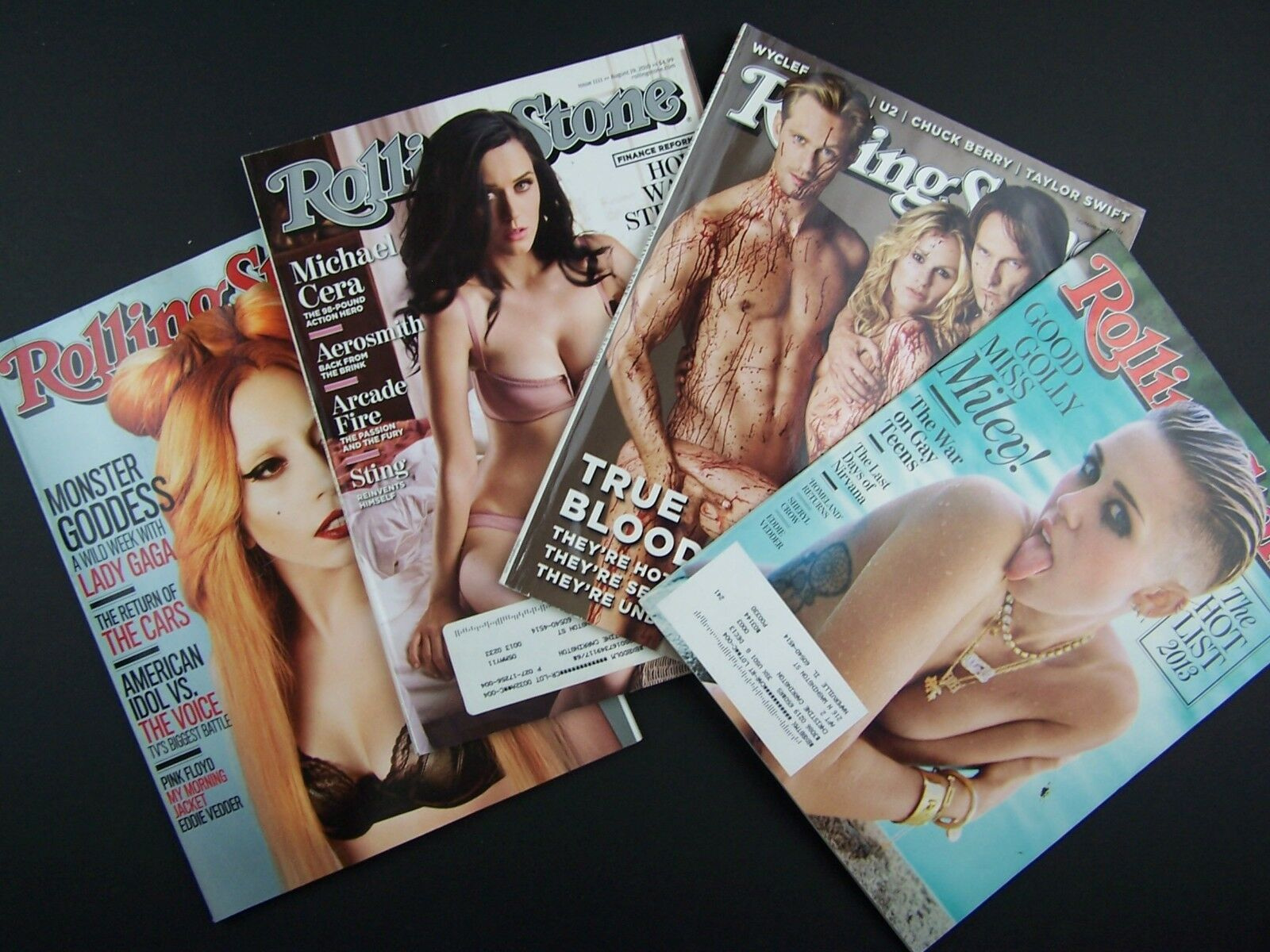 Rolling Stone Magazine Sexy Covers 4 Piece Lot