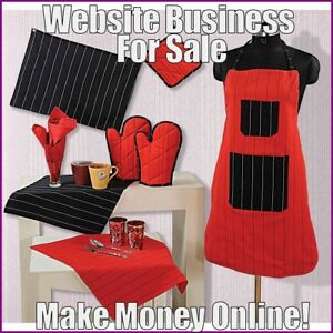 Fully-Stocked-KITCHEN-LINEN-Website-Business-FREE-Domain-FREE-Hosting-Traffic
