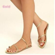 46deb851d64e0 item 4 Summer Women Braid Strappy Beach Flats Shoes Ring-Toe Casual Sandals  Plus Size -Summer Women Braid Strappy Beach Flats Shoes Ring-Toe Casual  Sandals ...
