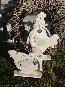 Das Bild Wird Geladen Holz Huhn 2 Stueck Herz Dekoration Ostern Tischdeko