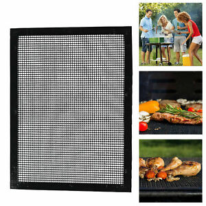 Infatigable Barbecue Grille Anti-adhérent Bbq Téflon Barbecue Support Coque Grille Non-stick Mesh-afficher Le Titre D'origine