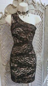 LIPSY-NEW-SEXY-BLACK-ONE-SHOULDER-MINI-COCKTAIL-DRESS-UK-10-PARTY-WEDDING
