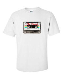 Audio-Cassette-Old-Skool-Music-Pop-Art-Design-Mens-Loose-Fit-Cotton-T-Shirt