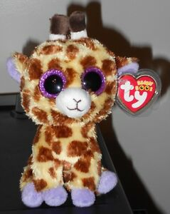 71a89bd5cca Ty Beanie Boo ~ SAFARI the Giraffe (6 Inch)(Glitter   Sparkly Eyes ...