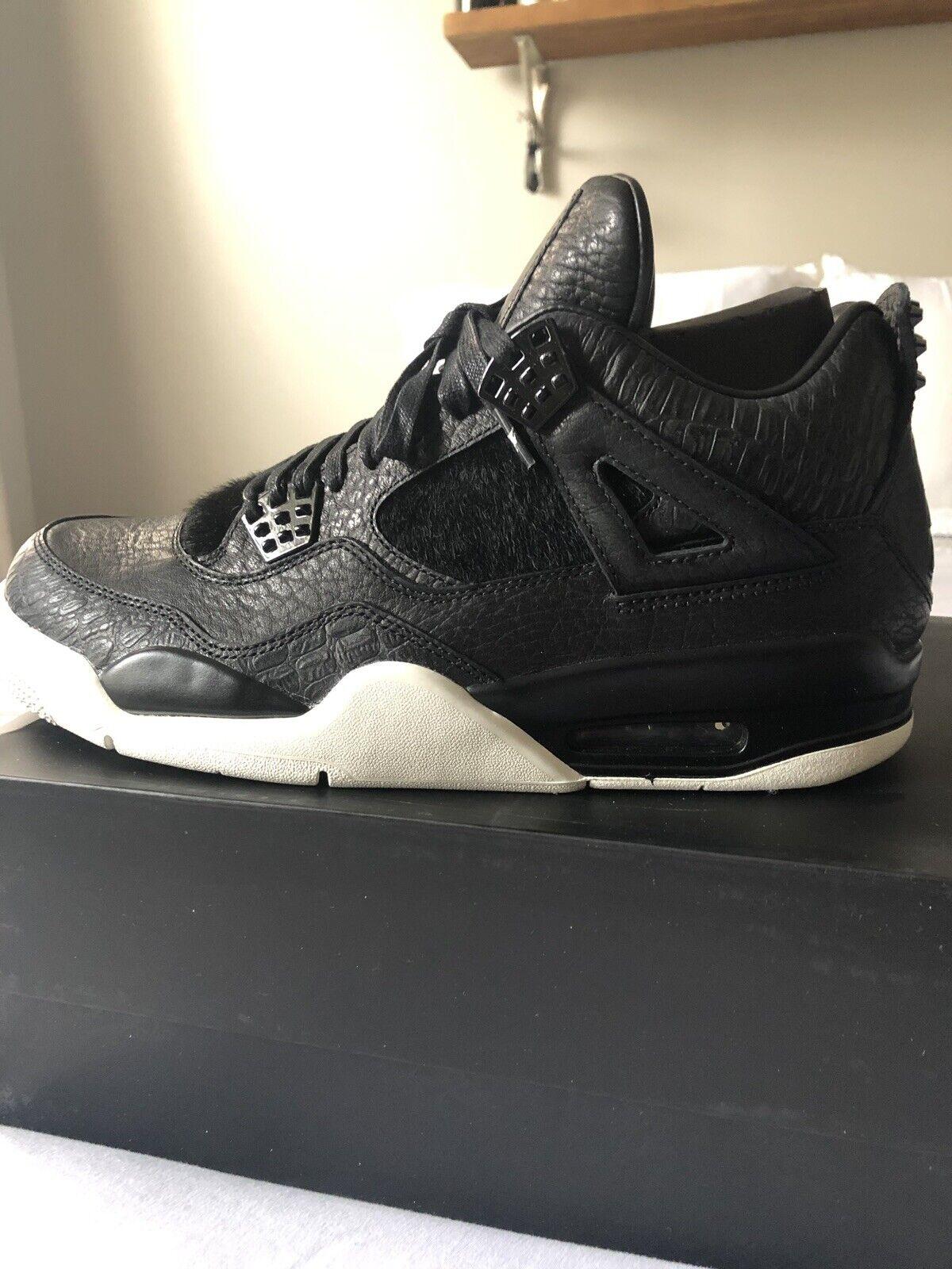 "cheap for discount 47fd7 4ce44 Nike Air Jordan Jordan Jordan 4 - ""premium Black Pony Hair"" Size 10.5 ."