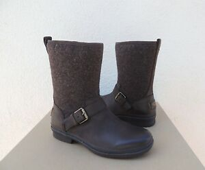 2c60cdbb670 Details about UGG ROBBIE STOUT LEATHER/ SHEEPWOOL WATERPROOF ANKLE BOOTS,  US 6/ EUR 37 ~NIB