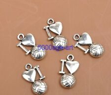 16pcs dark silver tone flower spacer connector h3411