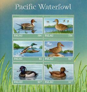 Palau-2018-Gomma-integra-non-linguellato-Pacific-Waterfowl-Pintail-MESTOLONE-6v-M-S-II-Anatre-birds