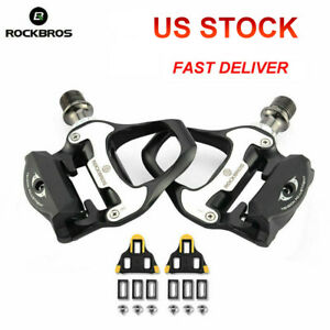 ROCKBROS-SPD-SL-Road-Bike-Pedals-Self-Locking-Ultralight-Aluminum-Alloy-Pedal-US