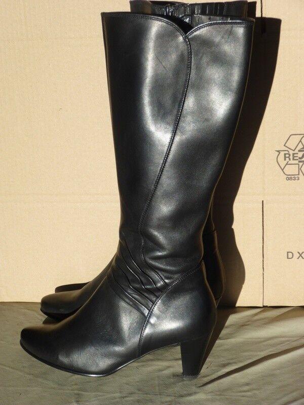 Gabor Damen Stiefel, Absatz (6 cm), schwarz, Gr. UK 5,0 (38)