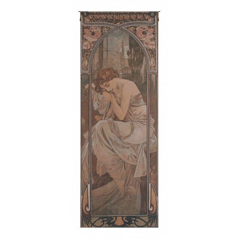 Mucha Nuit Belgian Tapestry Wall Hanging