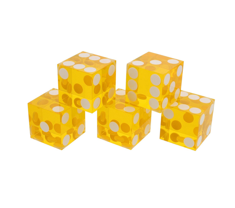 19 Mm Casino Yellow Dice