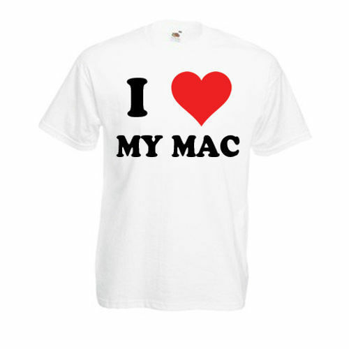 Personalised I Love My Mac T-Shirt Mens Ladies Womens Funny Novelty Gift Top