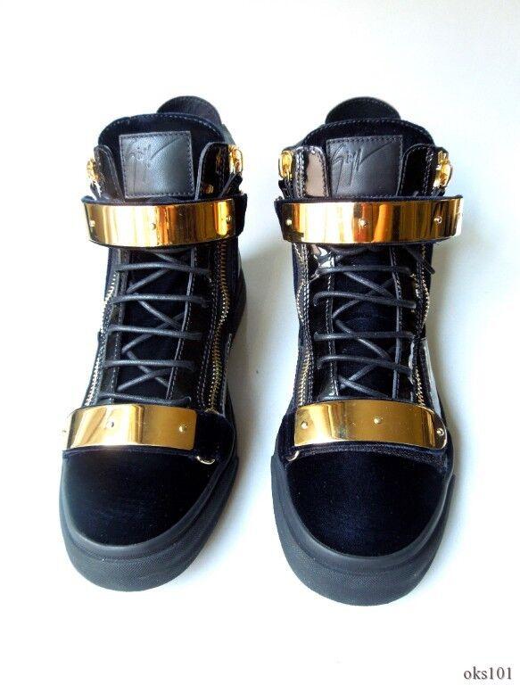 best website 1c4bf eb6f8 New 1050 Giuseppe ZANOTTI May London Gold Bar Blau HighTop Turnschuhe  Stiefel 42 9 9a3755
