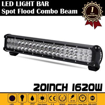 "20/"" Inch 1620W LED Work Light Bar Flood Spot Combo Beam Offroad Driving Lamp 19/"""