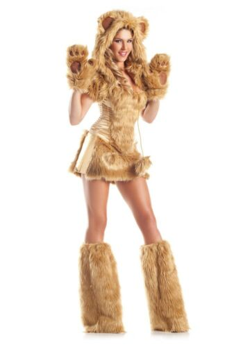 Fell Kostüm GOLDEN BEAR Bär Damen Verkleidung Pelz Plüsch 7-teilig