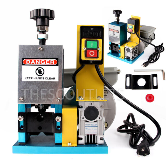 Copper Wire Stripping Machines For Sale | Motorized Cable Stripper Powered Desktop Electric Copper Wire