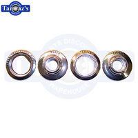 66-67 Chevy Ii / Nova Chrome Dash Bezel Knob Ring Surround - Set