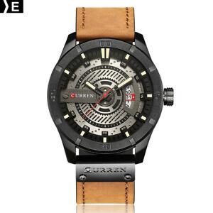 CURREN-8301-Men-Sports-Watches-Quartz-Casual-Leather-Wrist-Watch-E