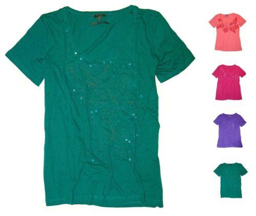 Po Pori Ladies/' Embellished Short Sleeve T-Shirt-NWT Free Shipping